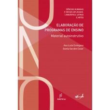 Elaboração de programas de ensino: material autoinstrutivo